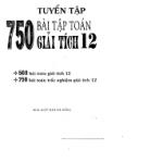 750 bài tập giải tích 12