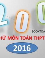 200 đề thi thử THPT Quốc gia 2016 môn toán