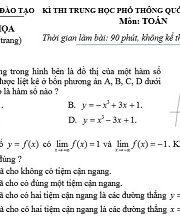 Đề thi môn toán minh họa THPT quốc gia 2017 có đáp án