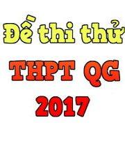 Đề thi thử THPT Quốc gia 2017 môn toán – Phần 18