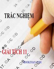 Trắc nghiệm tổng hợp giải tích và đại số lớp 11