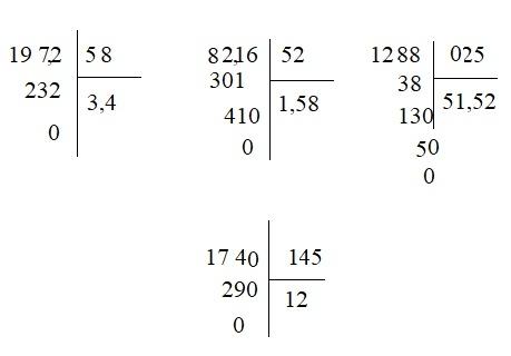 Giải bài Chia một số thập phân cho một số thập phân - Toán 5 trang 71