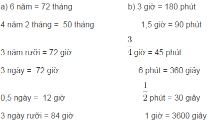 Giải bài tập SGK Toán 5: Bảng đơn vị đo thời gian trang 130, 131