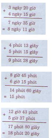 Giải bài tập trang 132 SGK Toán 5: Cộng số đo thời gian