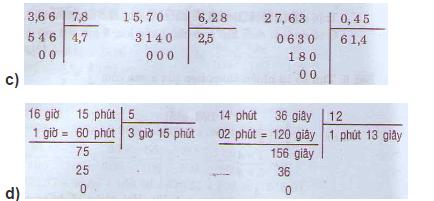 Giải bài tập SGK Toán 5: Luyện tập chung (tiếp) trang 176