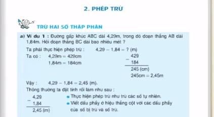 Giải bài tập Trừ hai số thập phân - Toán 5 trang 53