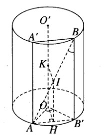Giải SBT Hình học 12 chương 2 bài 1 Khái niệm về mặt tròn xoay