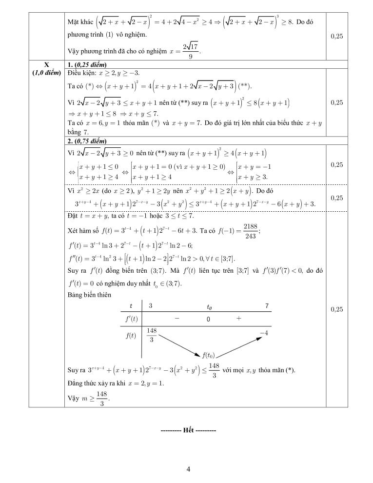 Đề thi và đáp án môn toán THPT Quốc gia 2016