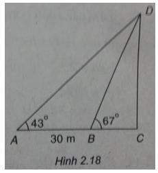 Giải SBT Bài 3: Các hệ thức lượng trong tam giác và giải tam giác – Chương 2 – Hình học 10