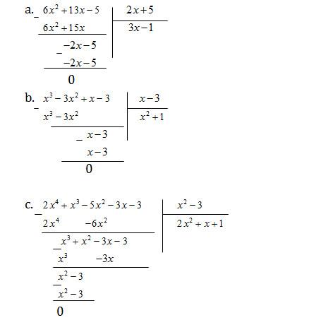 Bài 12 chia đa thức một biến đã sắp xếp - Sách bài tập Toán 8 tập 1