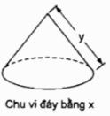 Bài 2 Hình nón. Hình nón cụt. Diện tích xung quanh và thể tích của hình nón, hình nón cụt - SBT Toán 9 tập 2