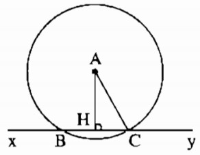 Bài 4 Vị trí tương đối của đường thẳng và đường tròn - Sách bài tập Toán 9 tập 1