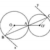 Bài 7 Vị trí tương đối của hai đường tròn - Sách bài tập Toán 9 tập 1