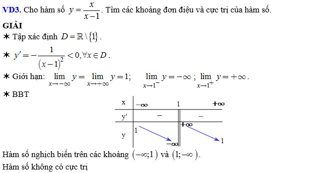 Đồng biến, nghịch biến của hàm số khác