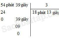 (VBT Toán 5) – Bài 127. Chia số đo thời gian cho một số