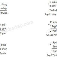 (VBT Toán 5) – Bài 123. Cộng số đo thời gian