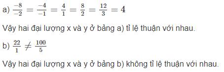 Bài 2: Một số bài toán về đại lượng tỉ lệ thuận – Chương 2 đại số SBT Toán 7