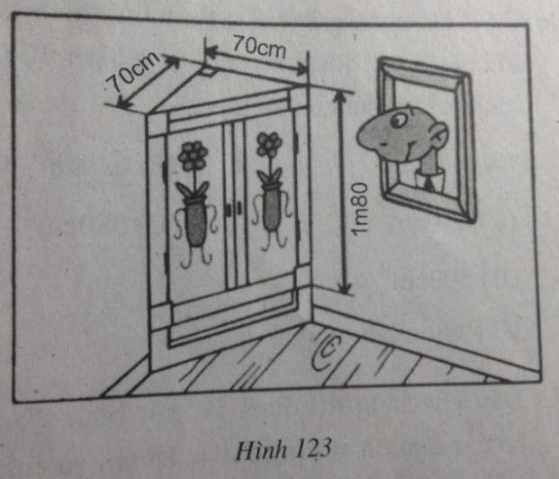 Bài 5: Diện tích xung quanh của hình lăng trụ đứng – Chương 4 Hình học SBT Toán 8