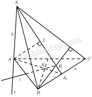 Bài 5: Khoảng cách – Giải SBT Hình học 11 nâng cao