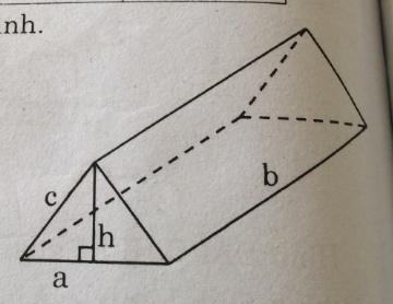 Bài 6: Thể tích của hình lăng trụ đứng – Chương 4 Hình học SBT Toán 8