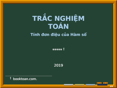 trac nghiem ham so don dieu