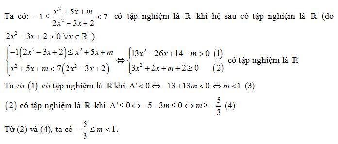 Trắc nghiệm về bất đẳng thức đại số 10